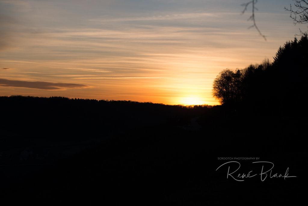 Sonnenuntergang überm Zweifelberg
